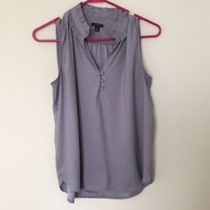 Gray 3 button blouse